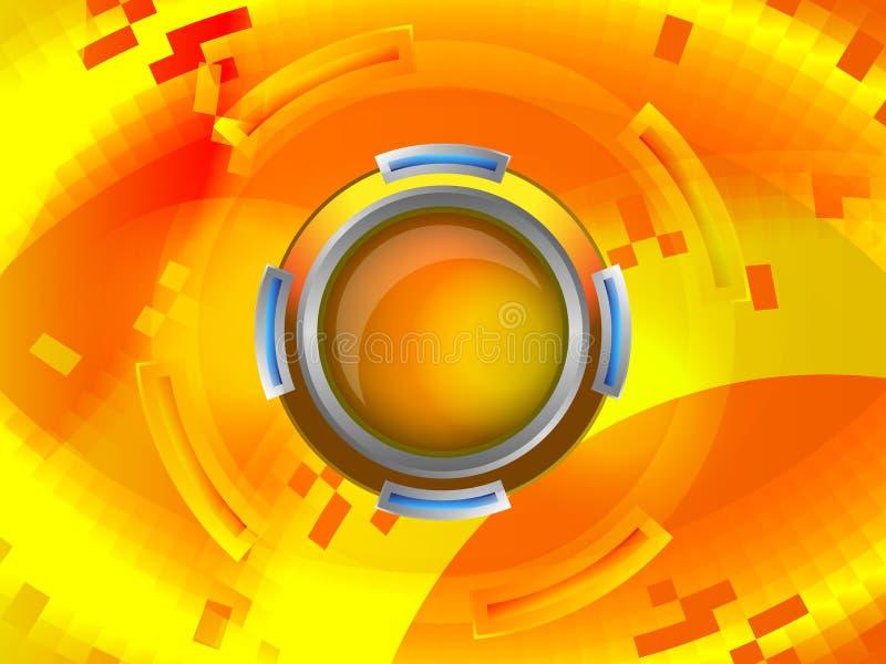 Abstract geel ontwerp stock illustratie