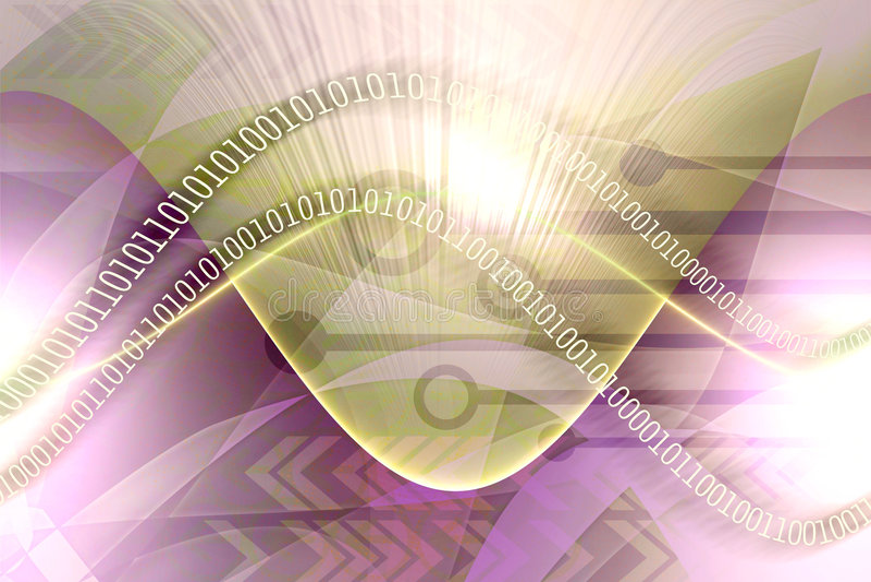 Abstract gegevenslek stock illustratie