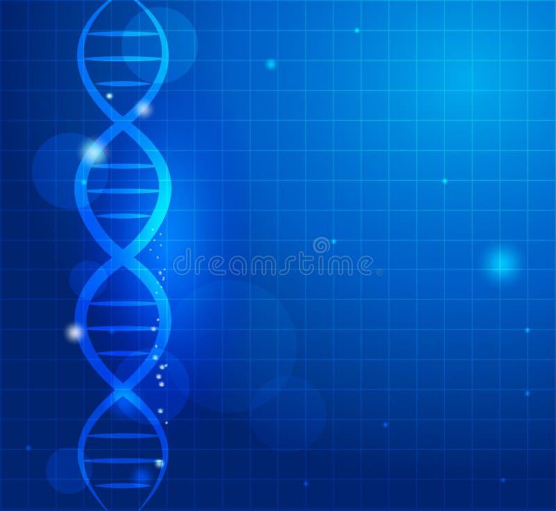 Abstract gene chain vector illustration