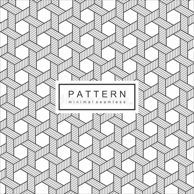 Abstract Geomatric Line Pattern Background royalty free illustration