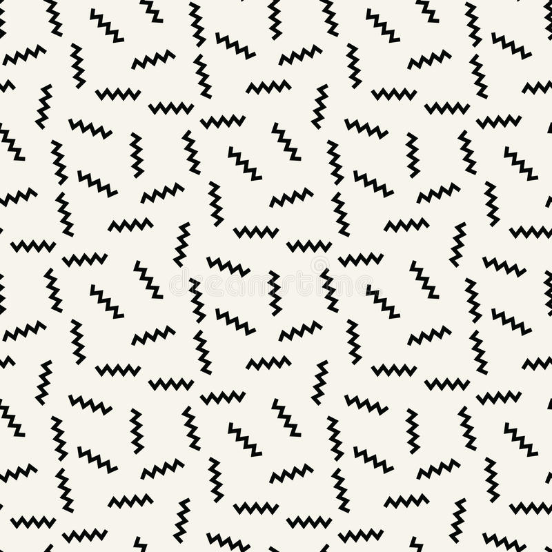Abstract geometrc black and white deco art memphis fashion pattern. Background royalty free illustration