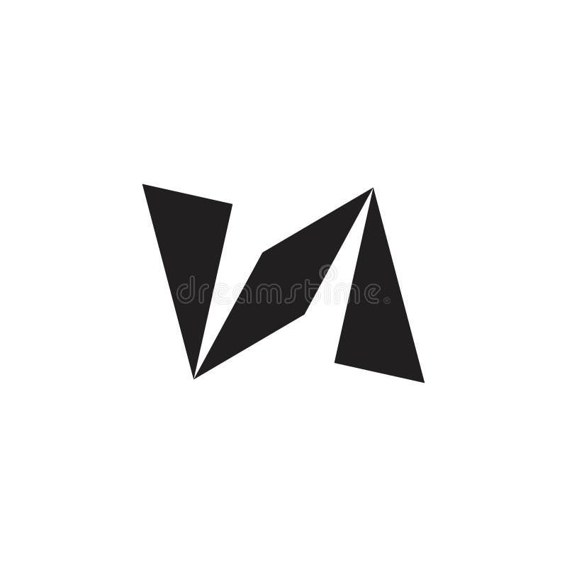 Abstract geometric arrow paper plane logo vector stock illustration