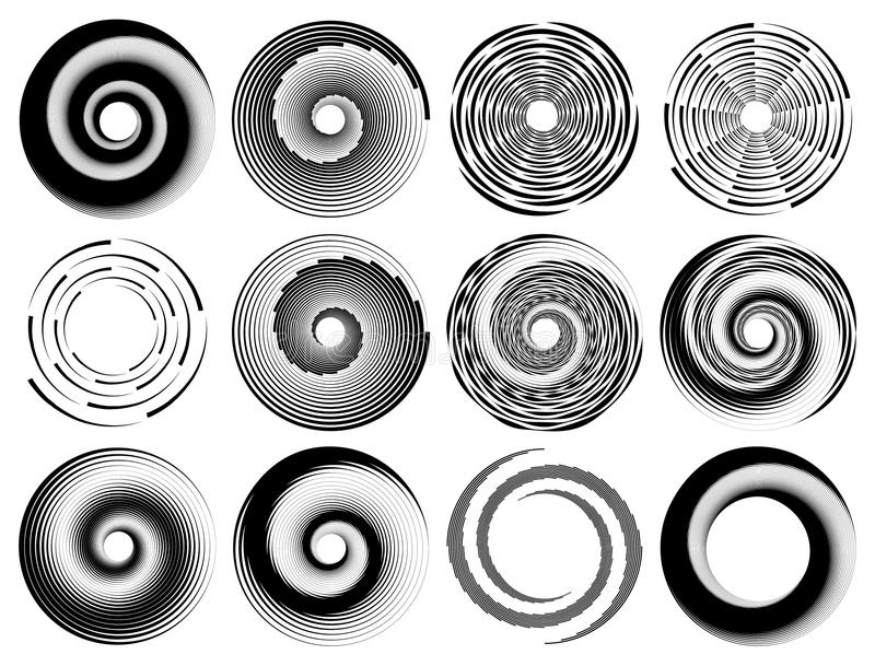 Abstract geometric art with circular motif. Geometric black and vector illustration