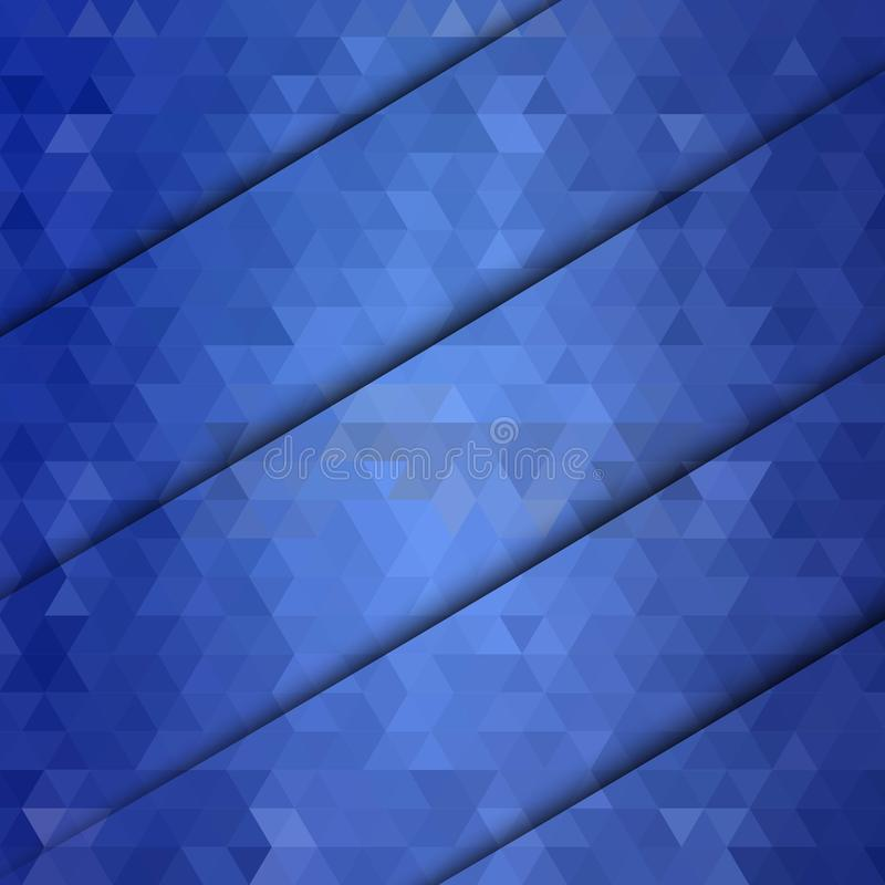 Abstract geometric background of blue triangles. Horizontal realistic shadow. eps 10 royalty free illustration