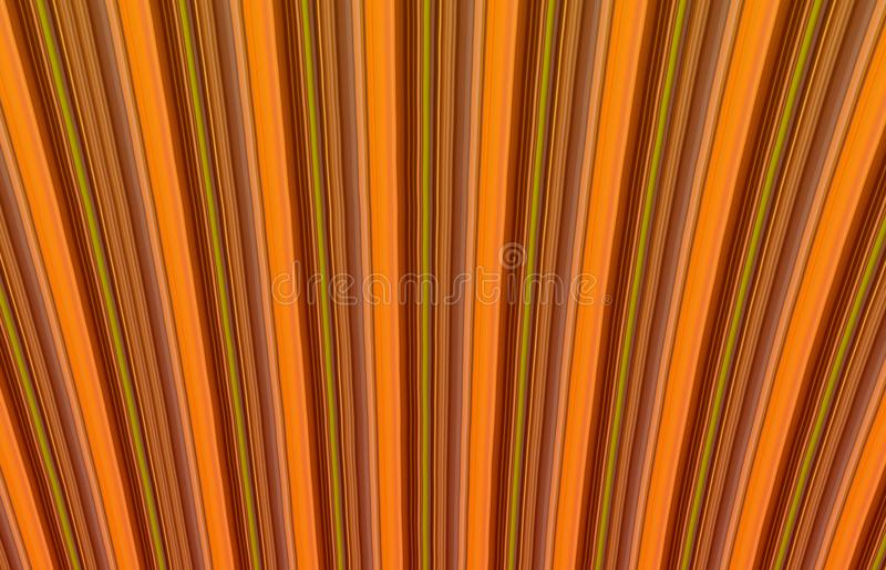 Abstract geometric background brownish orange tone vertical rib effect. Volume royalty free stock photo