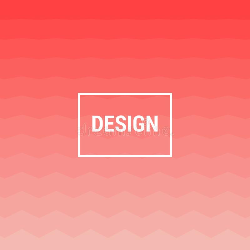 Abstract Pink geometric zigzag background modern fun hipster background texture design. Abstract Pink gradient geometric zigzag background modern fun hipster royalty free illustration