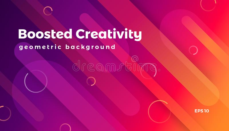 Abstract geometric background, colorful futuristic and playful graphic vector illustration