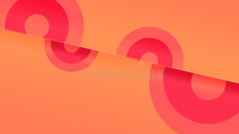 Abstract geometric background in coral pink and orange royalty free illustration