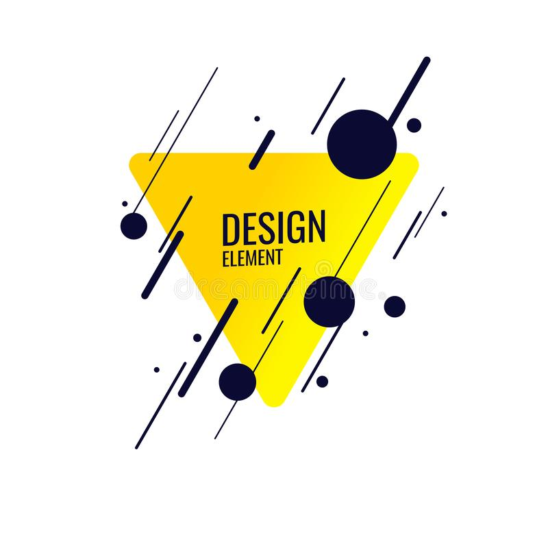 Abstract geometric background. Design poster with the flat figures. royalty free illustration