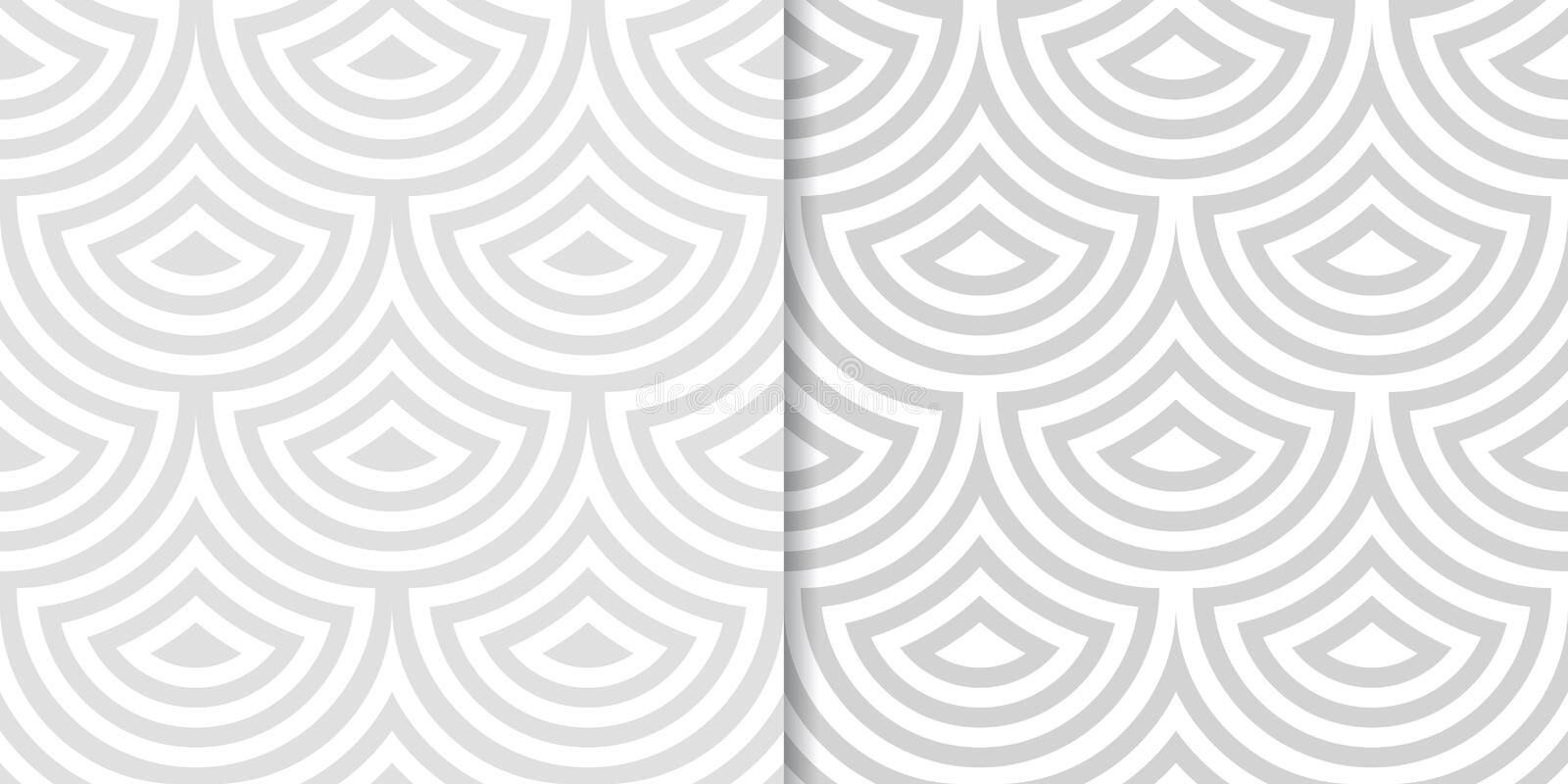 Abstract geometric background. Drop shape. Gray seamless patterns stock illustration