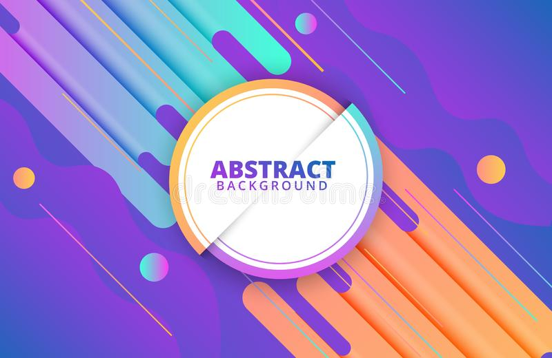 Abstract geometric background. Dynamic shapes composition. Background template for banner, web, landing page, cover, promotion, print, poster, greeting card stock illustration