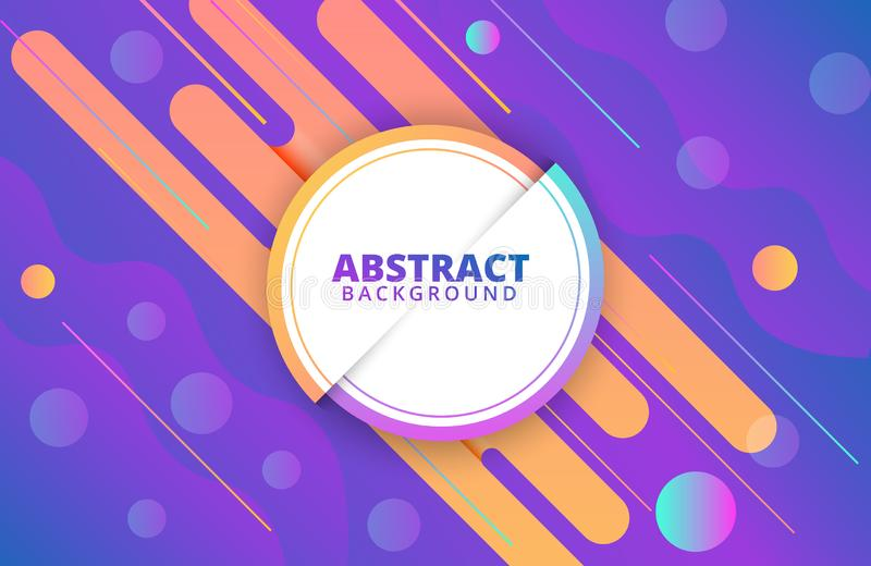 Abstract geometric background. Dynamic shapes composition. Background template. For banner, web, landing page, cover, promotion, print, poster, greeting card stock illustration