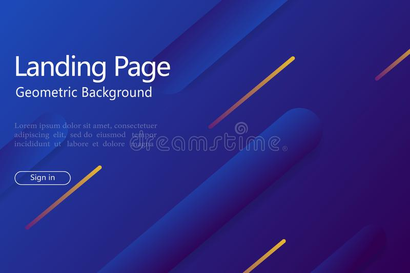 Abstract geometric background with gradient shape, line for website landing page. Design pattern with abstract dynamic shape and royalty free illustration