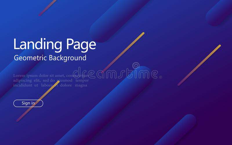 Abstract geometric background with gradient shape, line for website landing page. Design pattern with abstract dynamic shape and. Motion 3d effect. Digital vector illustration