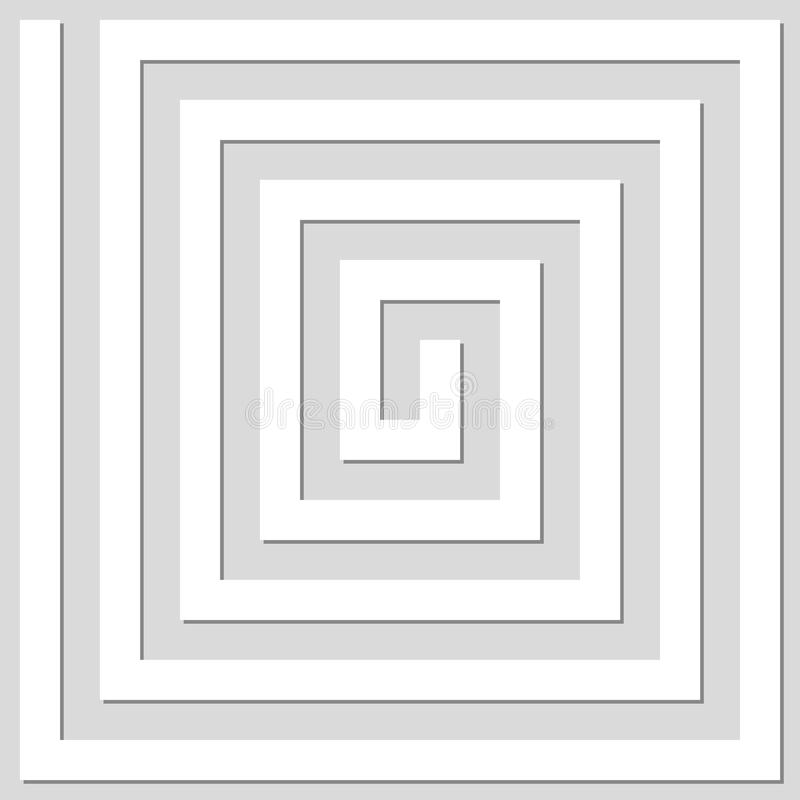 Abstract geometric background of lines. Spiral effect. Modern st. Ylish texture. Good design royalty free illustration