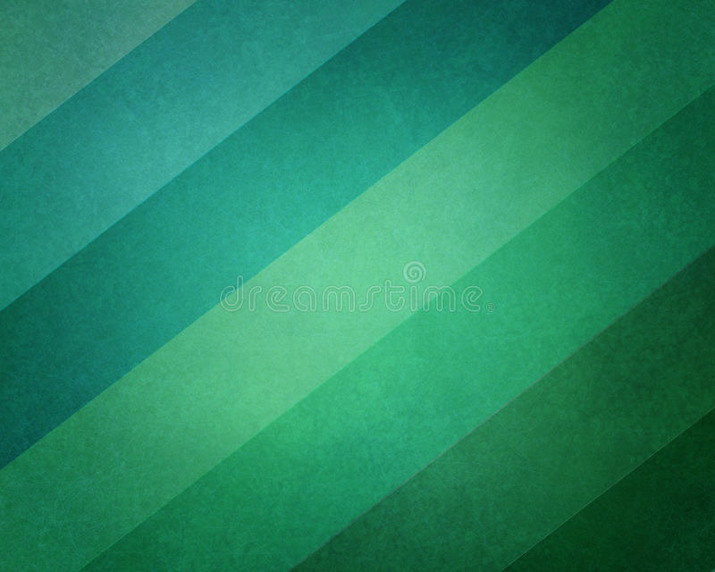 Abstract geometric background in modern blue and green beach color hues with soft lighting and texture on striped block pattern stock illustration