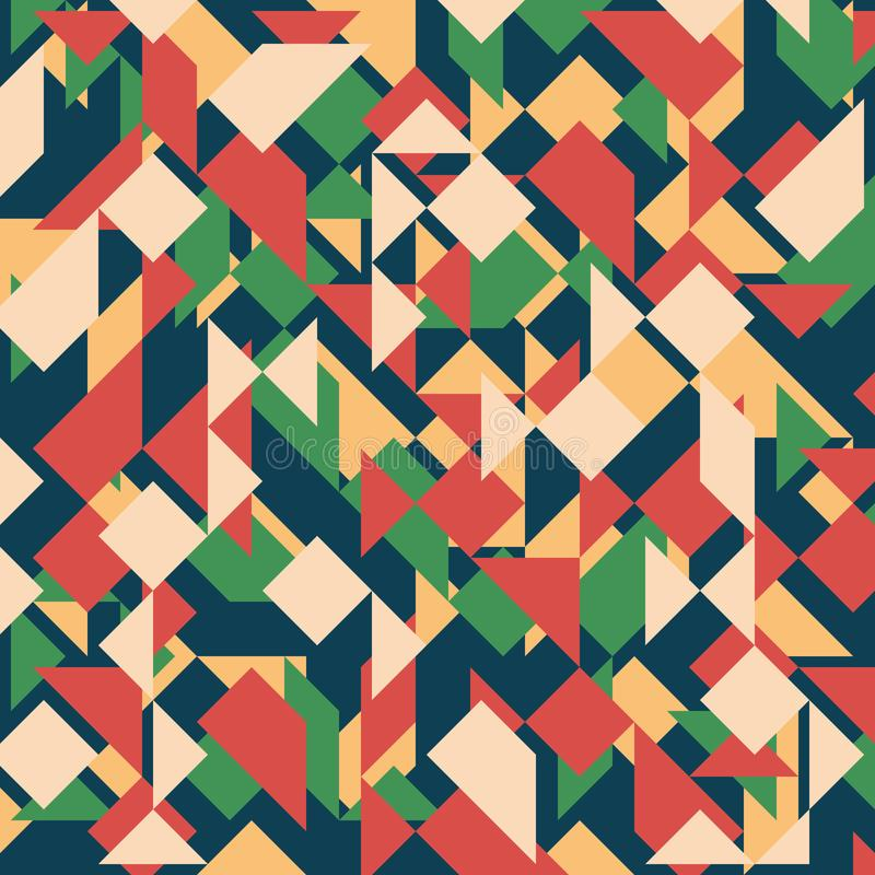 Abstract geometric background. Modern overlapping triangles and squares. stock illustration