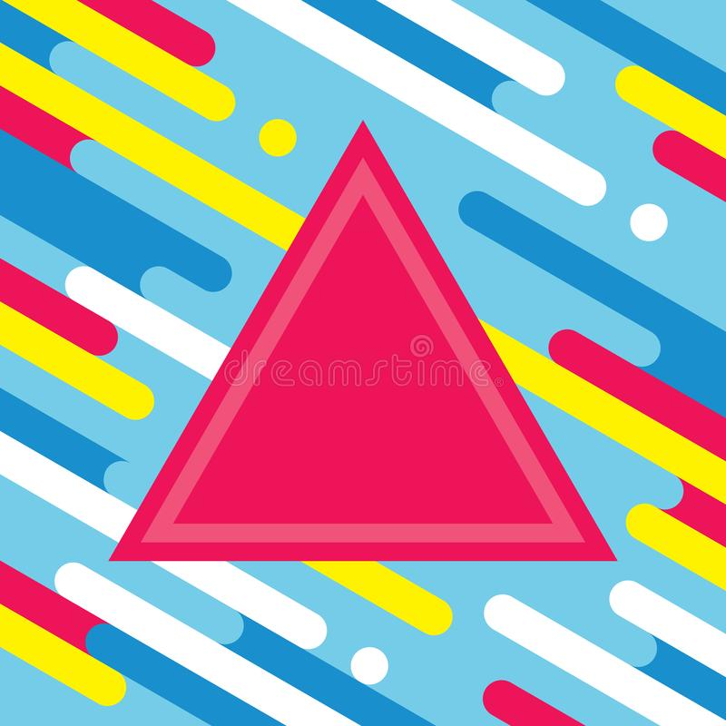 Abstract geometric background for music dj cd cover. Dance party poster template. Graphic design layout in flat style. Triangle py vector illustration