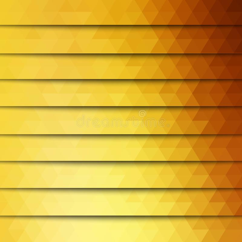 Abstract geometric background from orange triangles. Triangular design for your business. Creative geometric background in Origami royalty free illustration