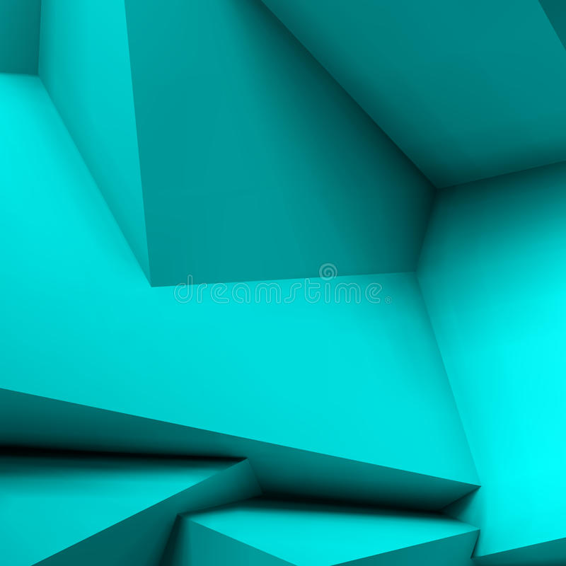 Abstract geometric background with overlapping cubes. Abstract geometric background with realistic overlapping blue cubes royalty free illustration