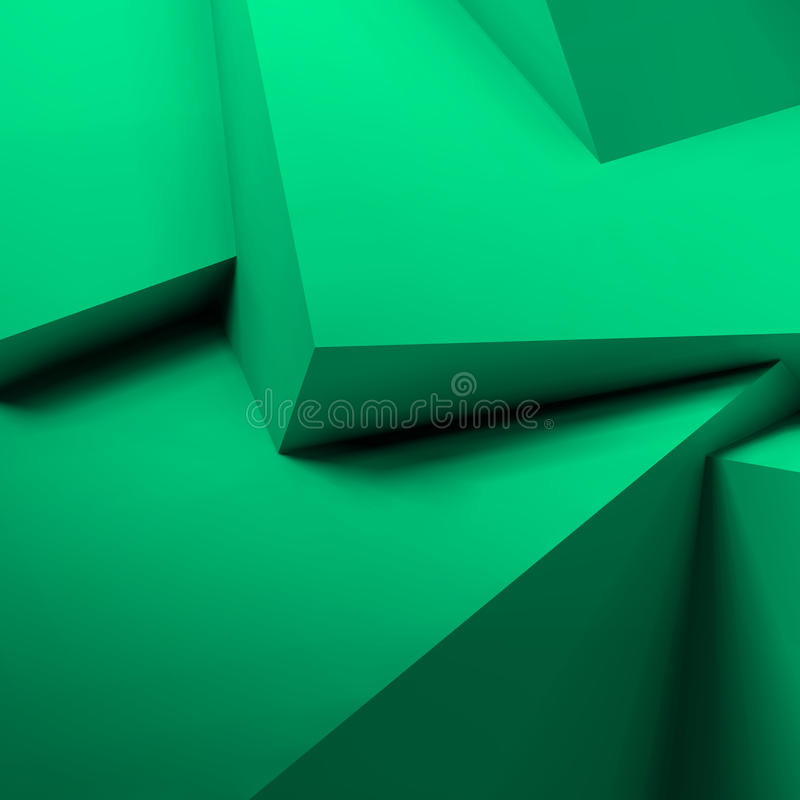 Abstract geometric background with overlapping cubes. Abstract geometric background with realistic overlapping turquoise cubes royalty free illustration