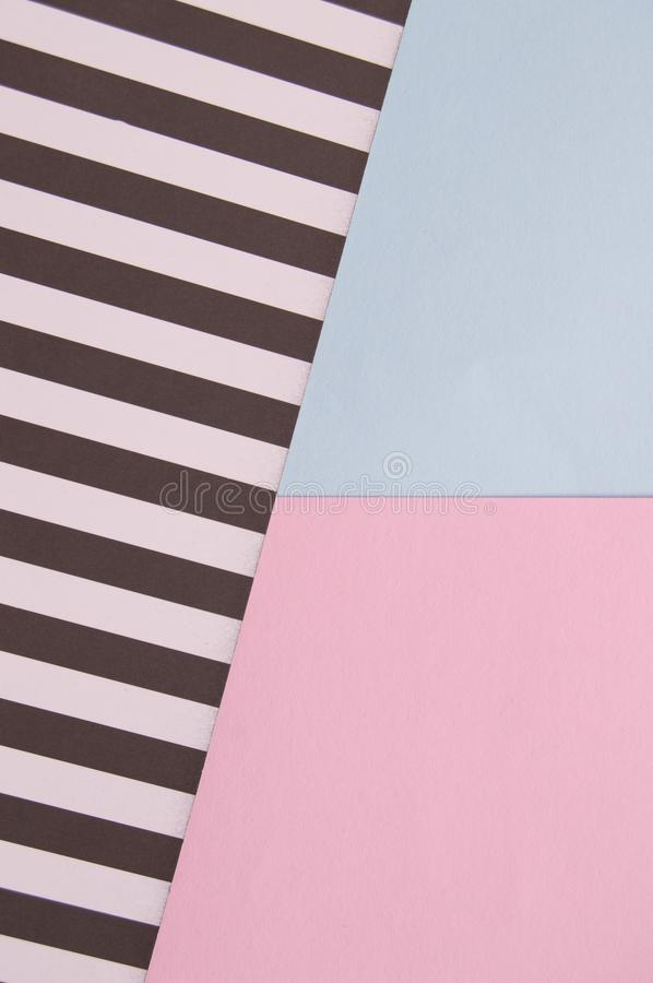 Abstract geometric background with pink, blue, black and white striped color, creative idea for designer, pattern stock photography