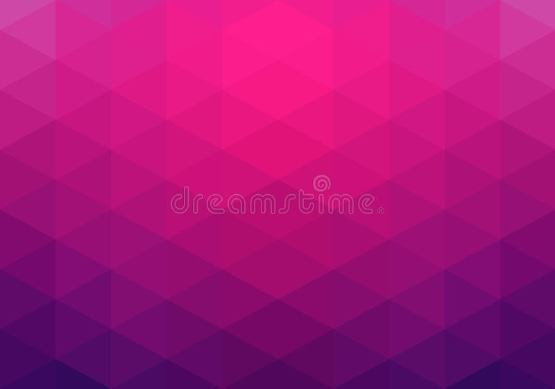 Abstract geometric background, pink triangles vector illustration