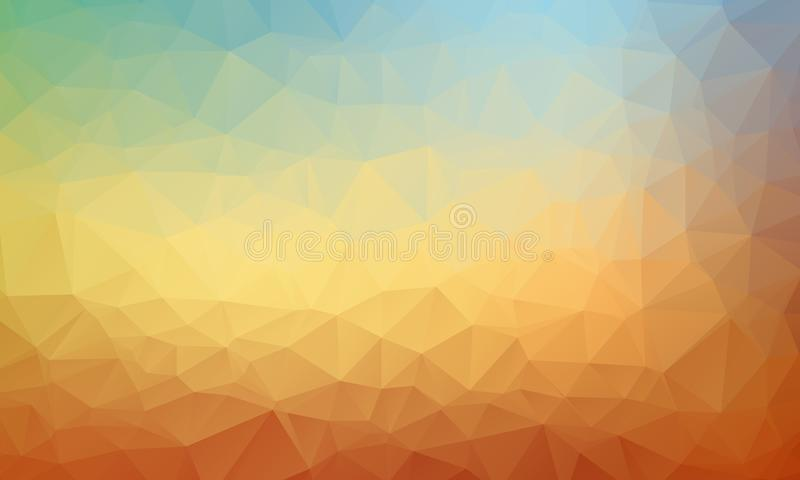 Abstract geometric background with polygons. Info graphics composition with geometric shapes. Retro label design. Vector illustration for business presentation stock illustration