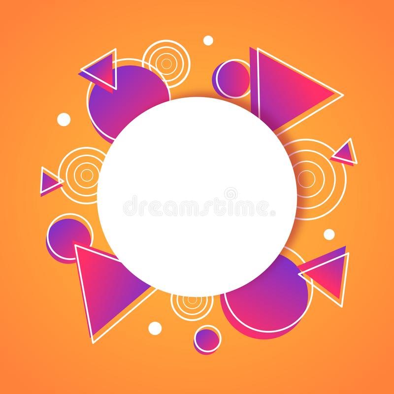 Abstract geometric background poster banner royalty free illustration