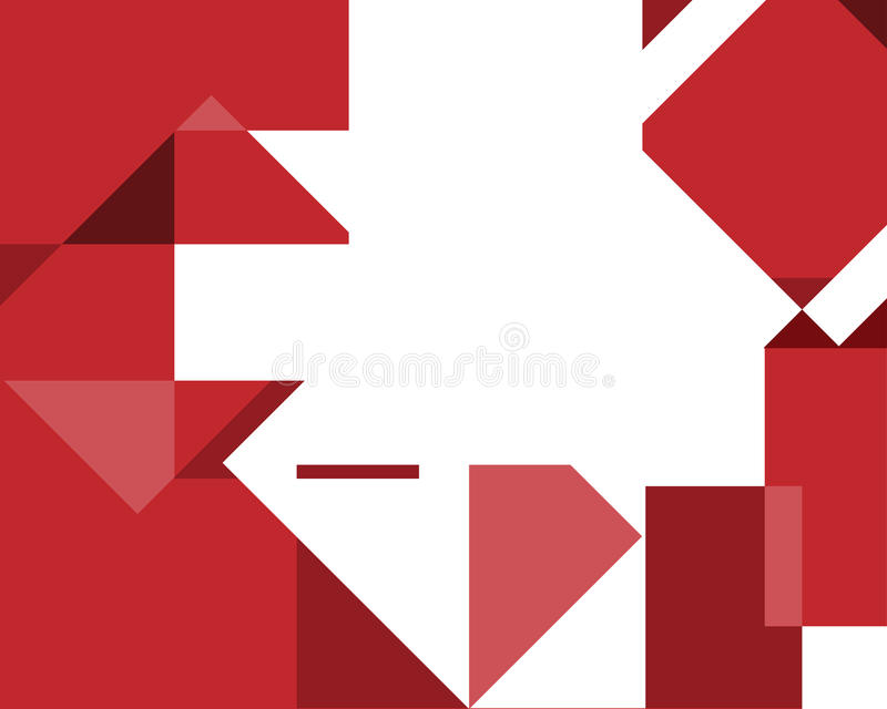 Abstract geometrical background with red sqares stock images