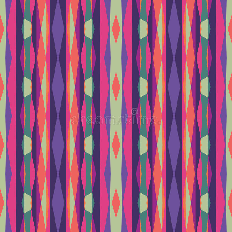 Abstract geometric background. Seamless vector pattern. Ornament illustration with vertical stripes.  stock illustration