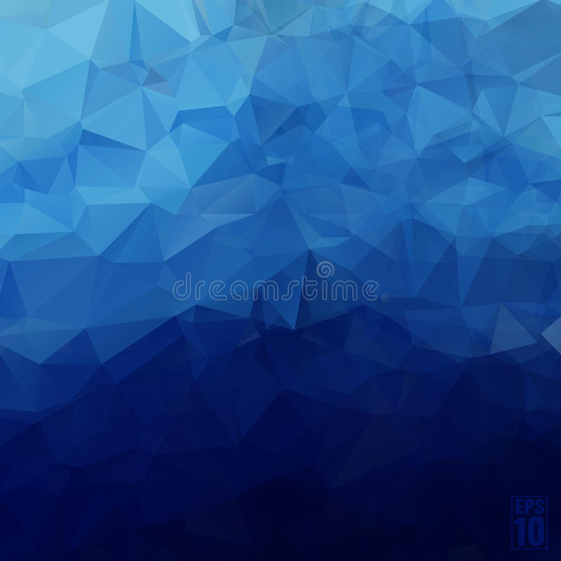 Abstract geometric background of triangles in blue royalty free illustration