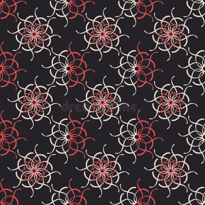 Abstract geometric background, vector seamless pattern, ornamental wallpaper, elegant ornament for wrapping paper and other. Surfaces. Symmetrical pattern stock images