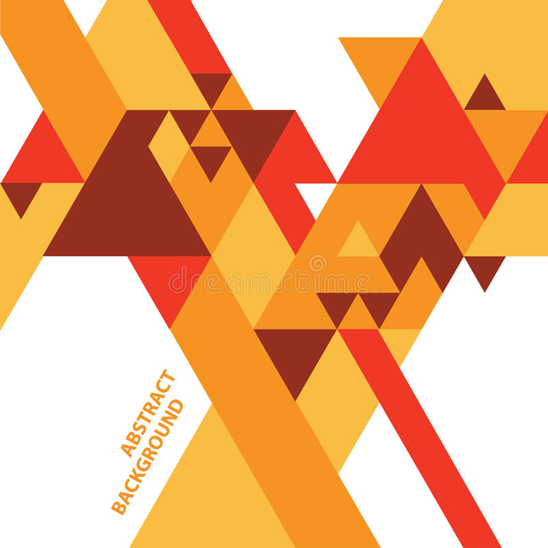 Abstract geometric background. Abstract geometric vector background with triangles in warm colors royalty free illustration