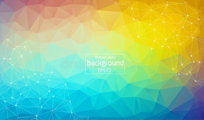 Abstract Geometric backgrounds full Color. White polygonal triangle geometric background. polygonal abstract background consisting royalty free illustration