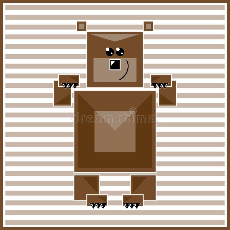 Abstract geometric bear royalty free illustration