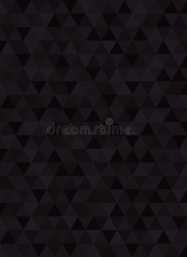 Geometric abstract black carbon verticale background stock illustration