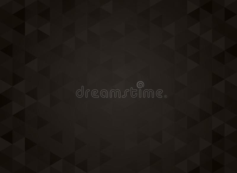 Abstract geometric black gradient background royalty free illustration