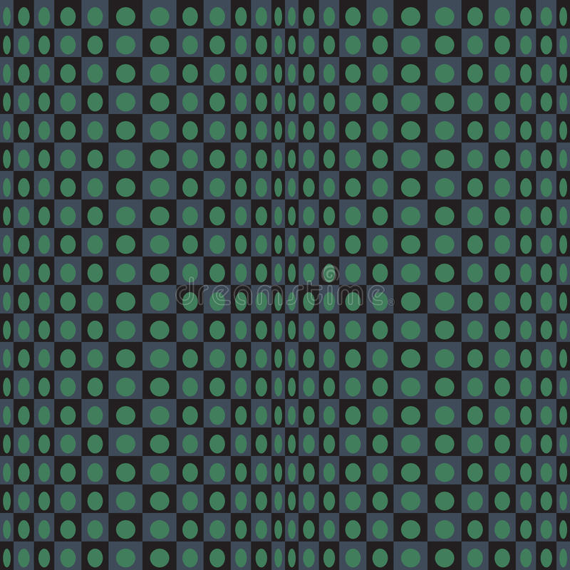 Abstract geometric black green pattern black emerald texture with square. royalty free illustration