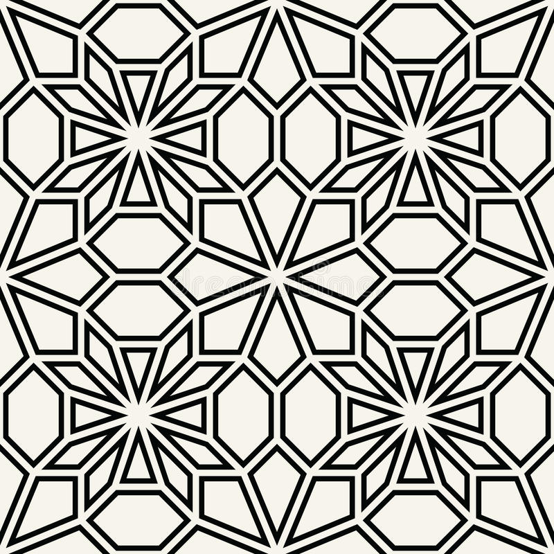 Abstract geometric black and white deco art pillow mosaic pattern. Background vector illustration