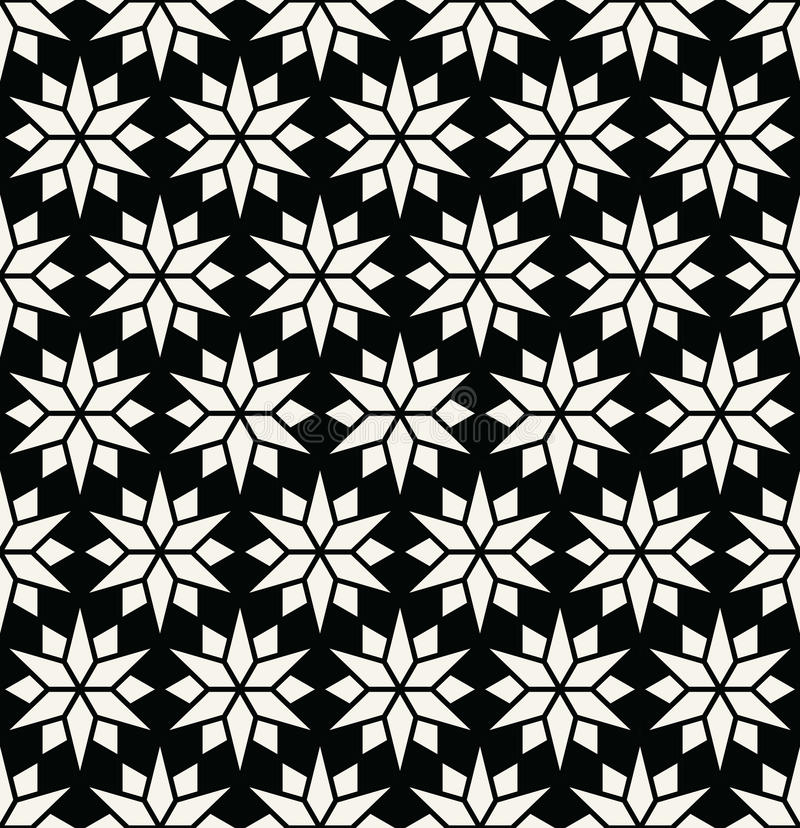 Download Abstract Geometric Black And White Deco Art Pillow Star Pattern Stock Vector - Image: 83703097