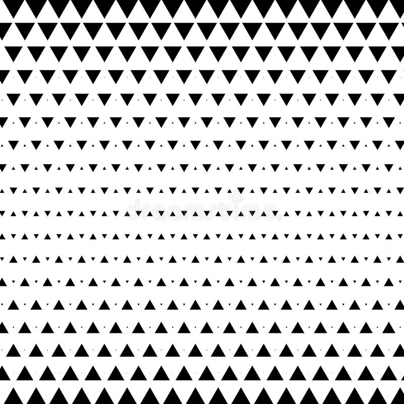 Abstract geometric black and white graphic design print halftone triangle pattern. Vector illustration vector illustration