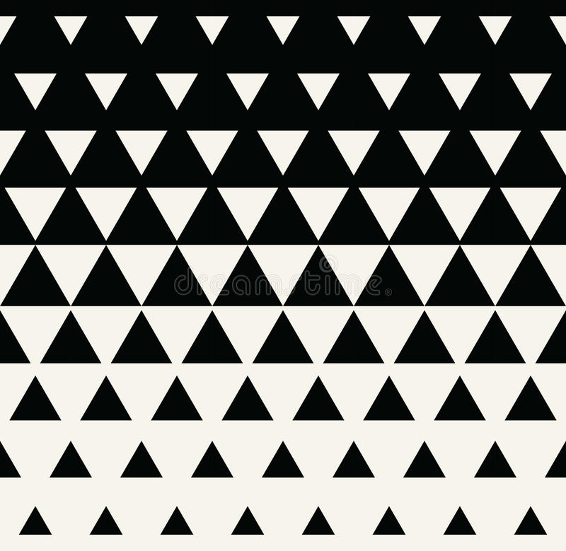 Abstract geometric black and white graphic design print triangle halftone pattern vector illustration