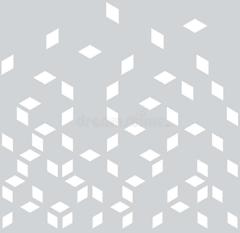 Abstract geometric black and white graphic minimal halftone pattern royalty free illustration