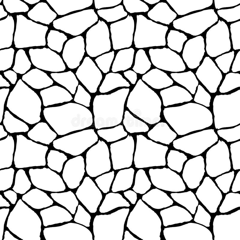 Abstract geometric black and white seamless pattern stock illustration