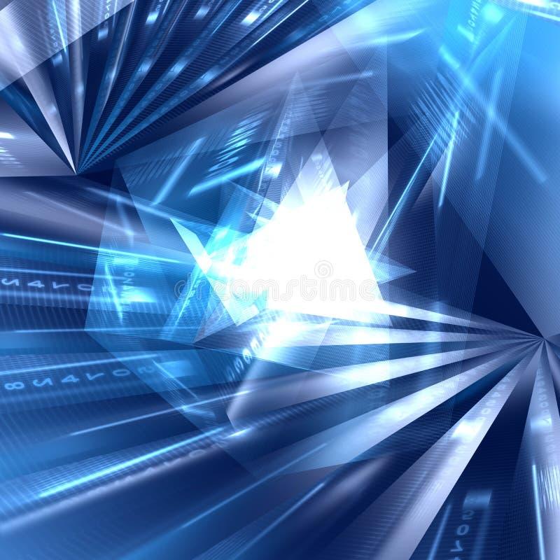Download Abstract Geometric Blue Background Stock Illustration - Illustration of digital, idea: 33634635