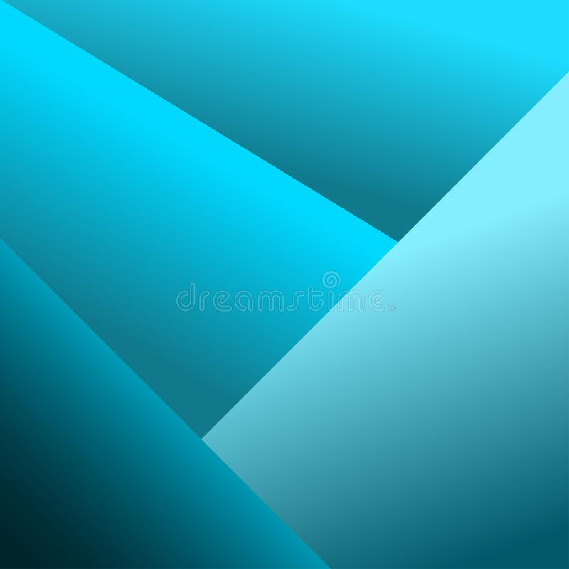 Abstract geometric blue background. Vector stock illustration