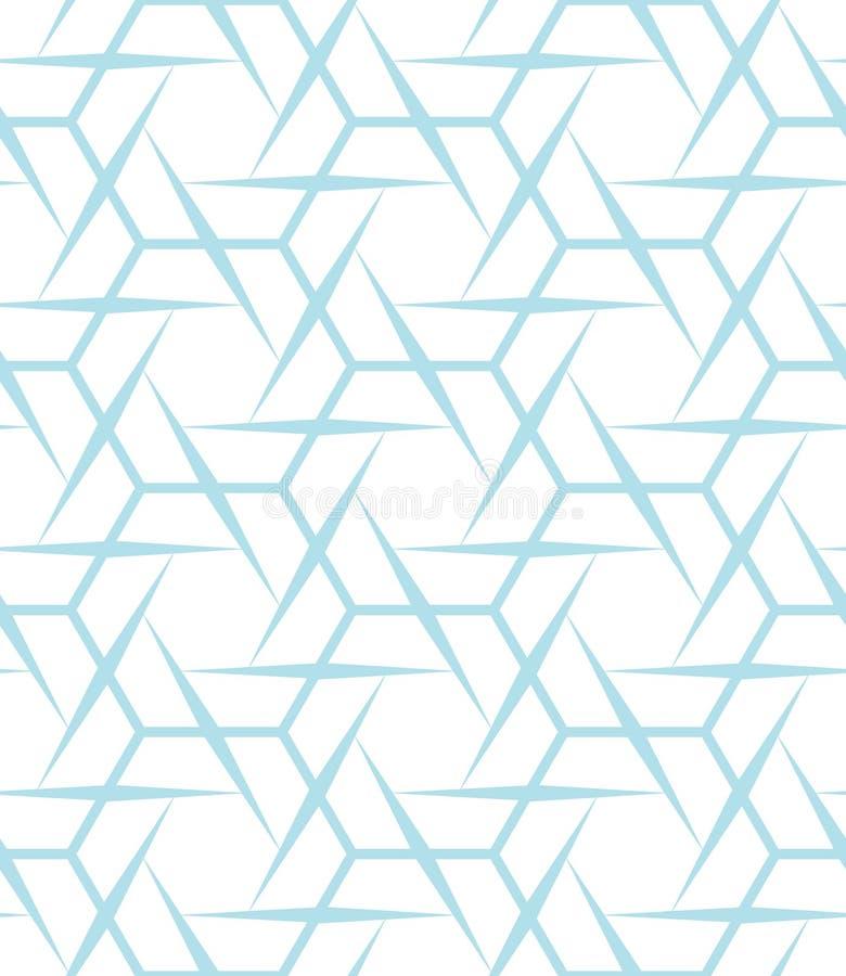 Abstract geometric blue graphic design print sharp hexagon pattern stock illustration