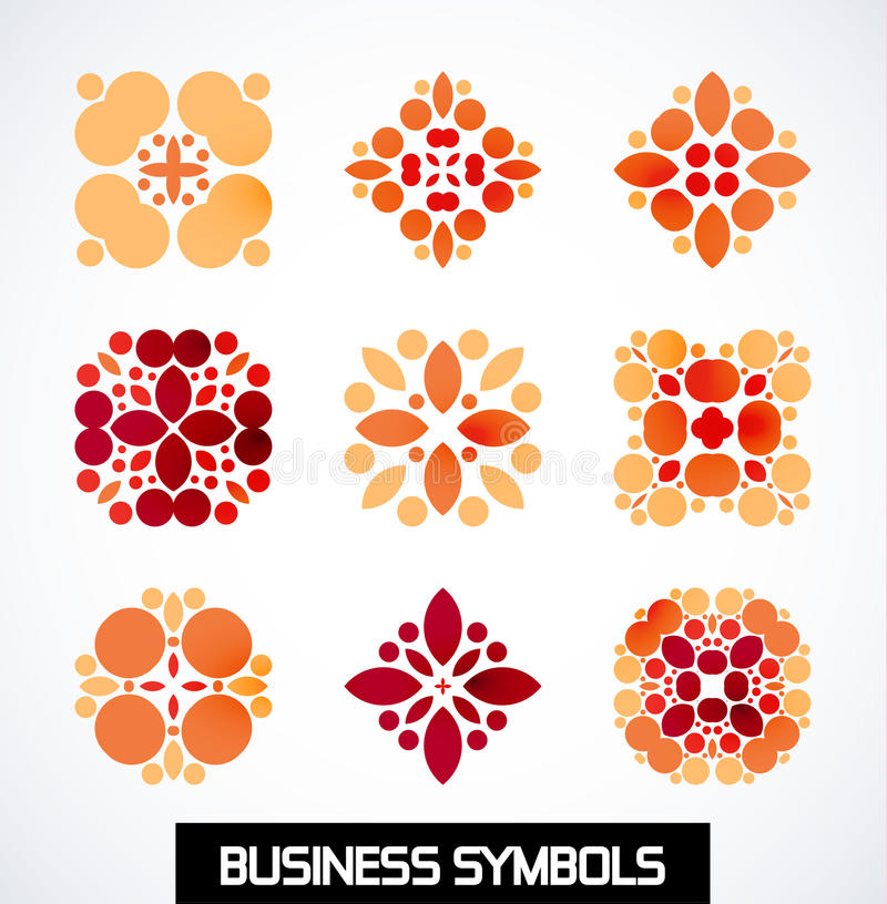 Abstract Geometric Business Symbols. Icon Set Stock Vector ...