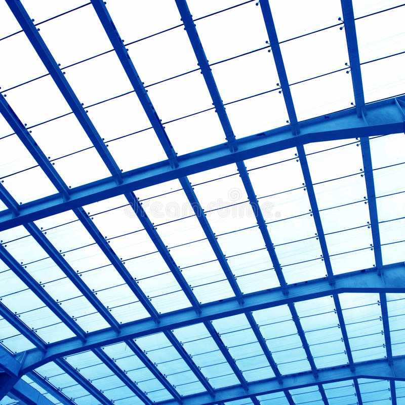 Abstract geometric ceiling stock photography
